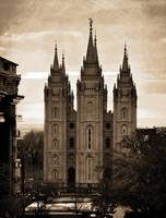 SALT LAKE TEMPLE TEXTURE COMPO AND APT BUILD SEPIA