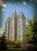 salt lake temple front hdr textured