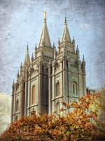 Salt lake temple HDR with texture