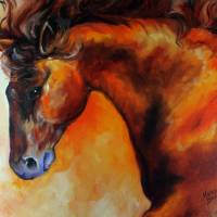 """DARK BAY EQUINE"" by MBaldwinFineArt2006"