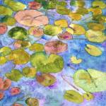 """Watercolor Waterlilies, Watercolor Painting Art"" by schulmanart"