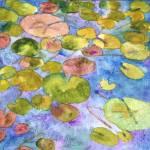"""Watercolor Waterlilies, Watercolor Painting Art"" by schulmanart"
