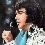 """Elvis Presley - Singing"" by GiniWahlen"