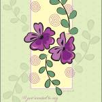 """Purple Vines Thank You Card"" by William63"