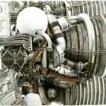 """Saturn V Rocket Engine"" by RobbArt"