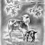 """Goat and Kid"" by silverwind"