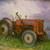 Old International Farm Tractor Art Prints & Posters by Vivian Eagleson