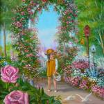 """Little Girl in Flower Garden"" by vivianeagleson"