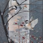 """Winter Chickadees"" by Dullinger"
