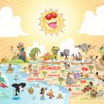 """Cartoon Map of California with text"" by caricatures"
