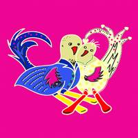Lovebirds Dejo Toyism Art Movement