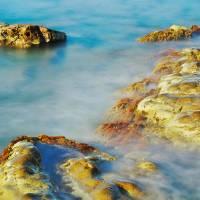Sea, Rocks and Sun Art Prints & Posters by Patrick Morand