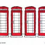 """london phone booths"" by staceycreek"