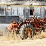 """Weathered Tractor & Barn"" by LAMeyer"