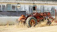Weathered Tractor & Barn