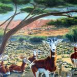 """Mohrr Gazelles-Sahar Oasis"" by natswildlifeart"