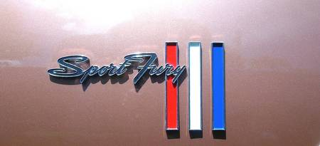 1967 Plymouth Sport Fury nameplate