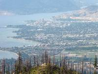 Looking down on Kelowna