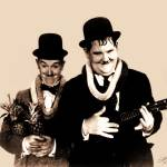 """Portrait of Laurel and Hardy"" by spadecaller"