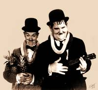 Portrait of Laurel and Hardy