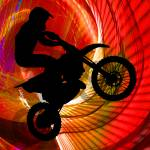 """Motocross Light Streaks in a Windtunnel"" by ElainePlesser"