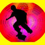 """Skateboarding on Fluorescent Starburst"" by ElainePlesser"