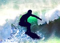 Surfer in a Big Crashing Wave