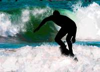 Surfing in the Ocean Foam
