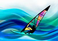 Technicolor Windsurfer in a Typhoon