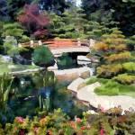 """""""Bridge in Japanese Garden"""" by ElainePlesser"""