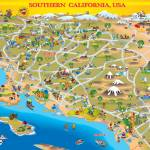 """Cartoon Map of So Cal for Greeting Card"" by caricatures"