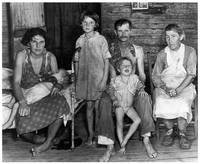 Alabama Sharecropper Bud Fields and Family (1936)