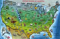 USA Cartoon Map