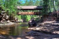 Amnicon Falls Covered Bridge (IMG_0428) by Jeff VanDyke