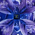 """Gemini Abstract in Purple & Blue"" by HarvestMoon"