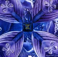 Gemini Abstract in Purple & Blue