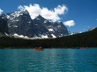 Lake Moraine-Canoes