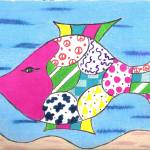 """Whimsical Pink Fish"" by ConnieCapone"