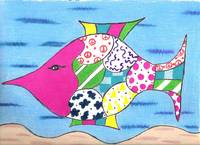 Whimsical Pink Fish