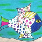 """Whimsical Blue Fish"" by ConnieCapone"