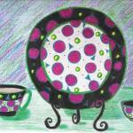 """Plate and cup"" by ConnieCapone"