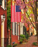 A Spring Morning on Prince Street, Alexandria VA -