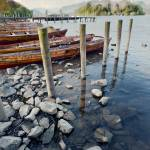 """Boats and Poles on Derwent Water"" by oleymoley"