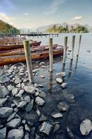 Boats and Poles on Derwent Water