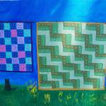 """""""quilts on clothes line #1"""" by friddleart"""