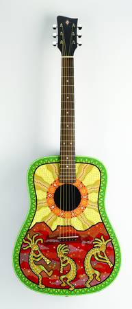 kokopelli guitar