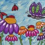 """Ladybugs in flight"" by friddleart"