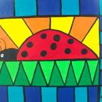 """Stained glass ladybug"" by friddleart"