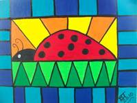 Stained glass ladybug