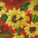 """""""Sunflowers #2"""" by friddleart"""